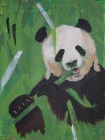 Panda, 2006, 40cm x 50cm, Acryl auf Kunstfaserplatte, verkauft