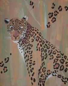 Leopard, 2006, 40cm x 50cm, Acryl auf Kunstfaserplatte, verkauft