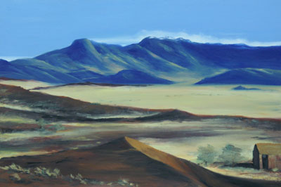Farbe/Licht 2/5, 2006/07, Namibia, 30cm x 45cm, Öl auf Karton