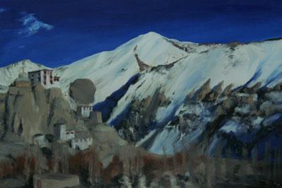 Farbe/Licht 3/5, 2006/07, Tibet, 30cm x 45cm, Öl auf Karton