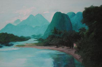 Farbe/Licht 4/5, 2006/07, Kambodscha, 30cm x 45cm, Öl auf Karton