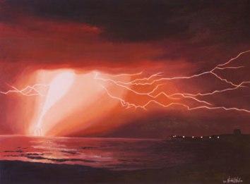Gewitter, 2010, 60cm x 80cm, Öl auf Leinwand, verkauft