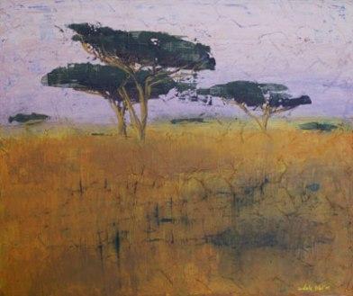 Serengeti, 2011, 60cm x 70cm, Öl und Acrylexperiment auf Leinwand