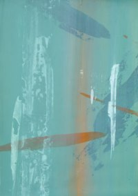 Dominant Septakkord, 2005, 49.7cm x 69.8cm, Acryl auf Papier