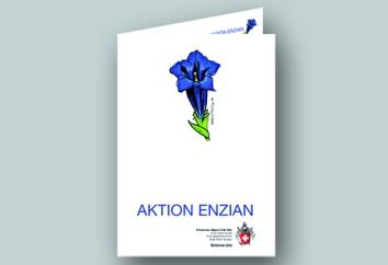 2011, Broschüre, Spendenaufruf Aktion Enzian im Auftrag von SAC Sktion Uto