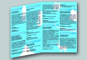 2013, Broschüre, Jubiläumsprogramm im Auftrag von SAC Sektion Uto