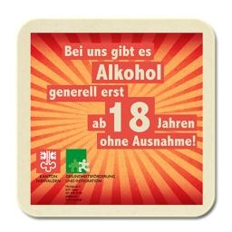 2015, Bierdeckel-Sticker im Auftrag von Gesundheitsförderung und Integration Kanton Nidwalden