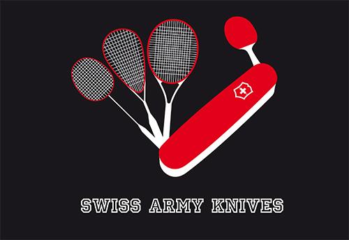 2017, Logo Racketlon Team Swiss Army Knives