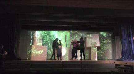 Bühnenkonzept für das Procap Weihnachtsmusical mit der Klasse F15 der Kantonsschule Sargans, 2016, 3/6