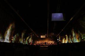 """Lichtkonzept für """"The Armed Man"""" zusammen mit Urs Kobelt, für den CantiChor der Kantonsschule unter der Leitung von Harri Bläsi, 2015, 3/3"""